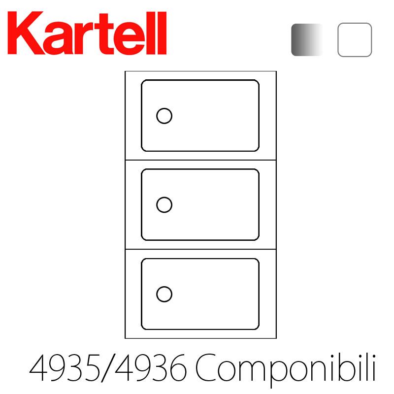 Kartell カルテル【Componibili Round】コンポニビリラウンドエレメントL34935 White/4936* Silver  おしゃれなインテリアの作り方 アウトドアリビングが気持ちいい