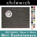 MINI BASKETWEAVE ミニバスケットウィーブ36x48cmchilewich チルウィッチ RECTANGLE レクタングルランチョンマット テーブ...