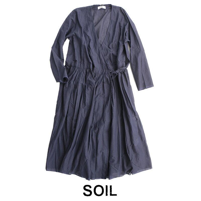 【期間限定POINT10倍】【2019SS】【送料無料】SOIL ソイル カシュクールワンピース NSL19004【RCP】