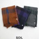 【2019AW】【送料無料】SOILソイルボイルラージチェックストールNSL19501【RCP】