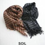 【2019AW】【送料無料】SOILソイルボイルスモールギンガムチェックストールNSL19502【RCP】