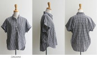 ☆【30%★OFF】j【2018SS】accuse×MMN【別注アイテム】アキュゼバックギャザーコットンシャツ183100【RCP】