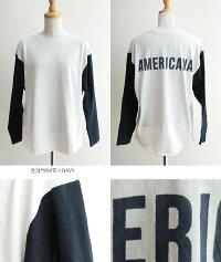 【2018AW】AMERICANA×MMN【ロゴ別注★アイテム】アメリカーナベースボールロゴTシャツBRF-356AEW【RCP】americanafair