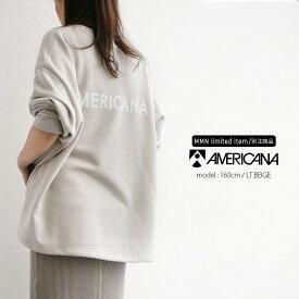 AMERICANA×MMN【別注アイテム】アメリカーナ サイドジップスウェット ASO-334/2 GB【RCP】