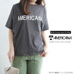 【2019SS】AMERICANA×MMN【別注】アメリカーナバックボリュームボートネックTシャツASO-253GB【RCP】