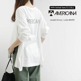 【2019AW】【送料無料】AMERICANA×MMN【別注アイテム】アメリカーナ 両サイドジップTシャツ ASO-366 GB【RCP】