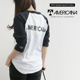 【2019AW】AMERICANA×MMN【別注アイテム】アメリカーナ ラグランロンTEE GB-002【RCP】