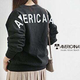 【2019AW】AMERICANA×MMN【別注アイテム】アメリカーナ 裏起毛クルーネックスウェット GB-003【RCP】