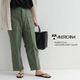 【2021SS】AMERICANA アメリカーナ ユーティリティーパンツ(USED加工) AL-393USED【RCP】カーキ ベイカーパンツ カーゴパンツ