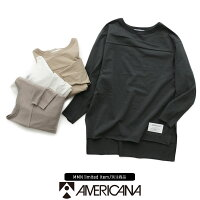 【2020SS】AMERICANA×MMN【別注アイテム】アメリカーナback刺繍カットソーBRF-451AGB【RCP】