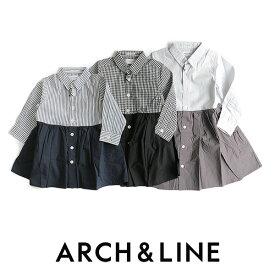 【50%★OFF】【kids】ARCH&LINE アーチ&ライン バイカラーブラウスワンピース AL612606【RCP】