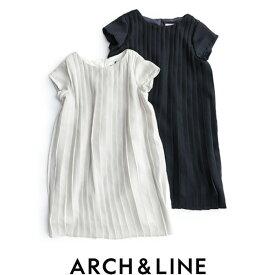 【50%★OFF】【kids】ARCH&LINE アーチ&ライン プリーツコンビドレス PLEATS COMBI DRESS AL711604【RCP】