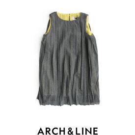 【50%★OFF】【kids】ARCH&LINE アーチ&ライン プリーツノースリーブトップス AL711603【RCP】