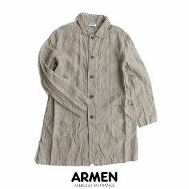 【2019SS】【送料無料】ARMEN アーメン リネンワークコート NAM1601LP【RCP】