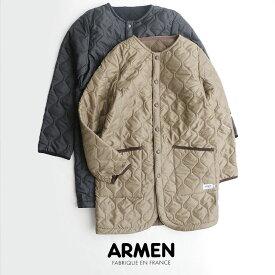 【SALE対象外】【2019AW】ARMEN アーメン ノーカラーコート NAM1651【RCP】