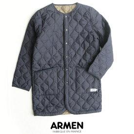 【SALE対象外】【2019AW】ARMEN アーメン ノーカラーコート NAM1651PP【RCP】