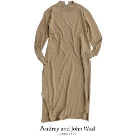 【20%★OFF】Audrey and John Wad オードリーアンドジョンワッド クルーネックロングスリーブマキシワンピース H2716【RCP】