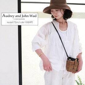 【40%★OFF】Audrey and John Wad オードリーアンドジョンワッド ピンタックブラウス H0140【RCP】MSS