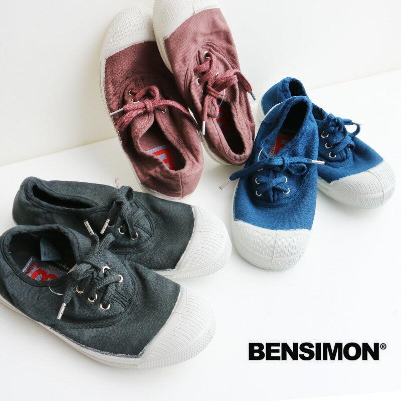 o【2017AW】【kids】BENSIMON ベンシモン キャンバススニーカー 53174-1-00213【RCP】