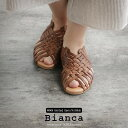 【2019SS】【送料無料】Bianca×MMN【別注アイテム】 ビアンカ メッシュレザーサンダル 1224【RCP】