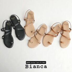 【10%★OFF】【2020SS】Bianca×MMN【別注アイテム】 ビアンカ 細ストラップサンダル 1131【RCP】