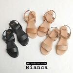 【2020SS】Bianca×MMN【別注アイテム】ビアンカゴムバンドフラットサンダル8153【RCP】