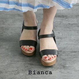【10%★OFF】【2020SS】Bianca×MMN【別注アイテム】 ビアンカ ゴムベルトウェッジサンダル 8156【RCP】