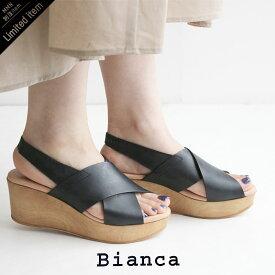 【10%★OFF】【2020SS】Bianca×MMN【別注アイテム】 ビアンカ ウェッジソールクロスサンダル 5699【RCP】