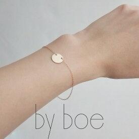 【50%★OFF】by boe バイボー サークルチャームブレスレット(GOLD) B170【RCP】