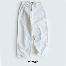 【40%★OFF】chimala チマラ ホワイトデニムワークパンツ CS29-WP11B【RCP】
