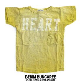 【kids】DENIM DUNGAREE デニムダンガリー ビンテージ天竺HEARTポケットTEE 782455【RCP】遠足・アウトドア