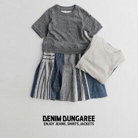 m【30%OFF】j【kids】DENIM DUNGAREE デニムダンガリー 天竺シンプル合体ワンピース 772518【RCP】
