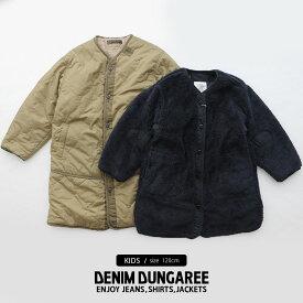 【2019AW】【kids】【120cm】DENIM DUNGAREE デニムダンガリー リバーシブルキルトジャケット 798222【RCP】