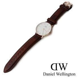 【30%★OFF】Daniel Wellington ダニエルウェリントン レザーストラップ腕時計/レディース/36mm/ アンドルーズ Classic ST Andrews(0507DW/0607DW)【RCP】