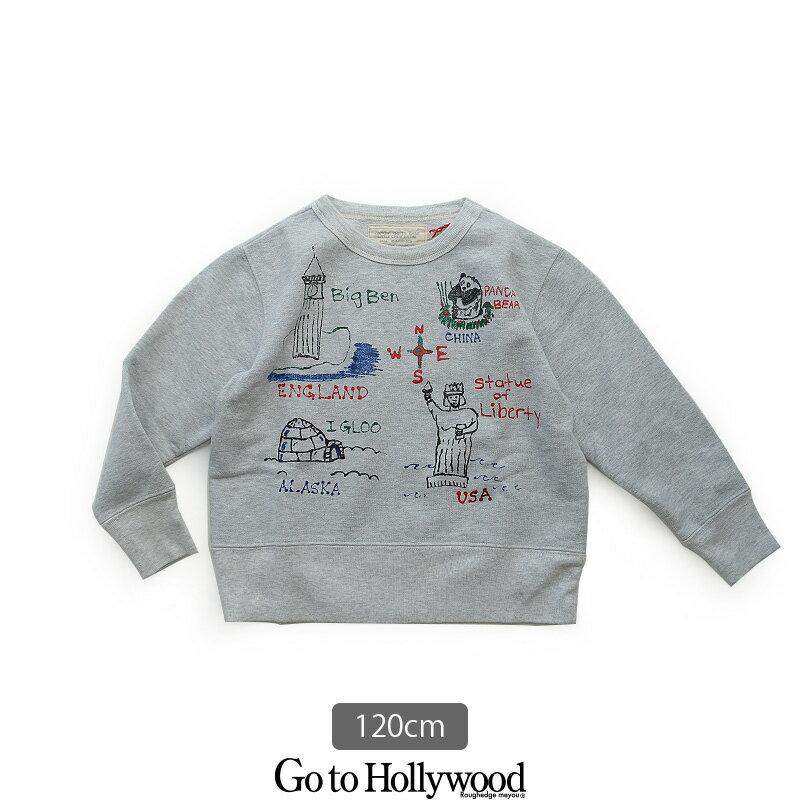 d【SALE対象外】【2018AW】【kids】Go to Hollywood ゴートゥーハリウッド 裏起毛ラクガキ変形スウェット 1288401【120cm】【RCP】