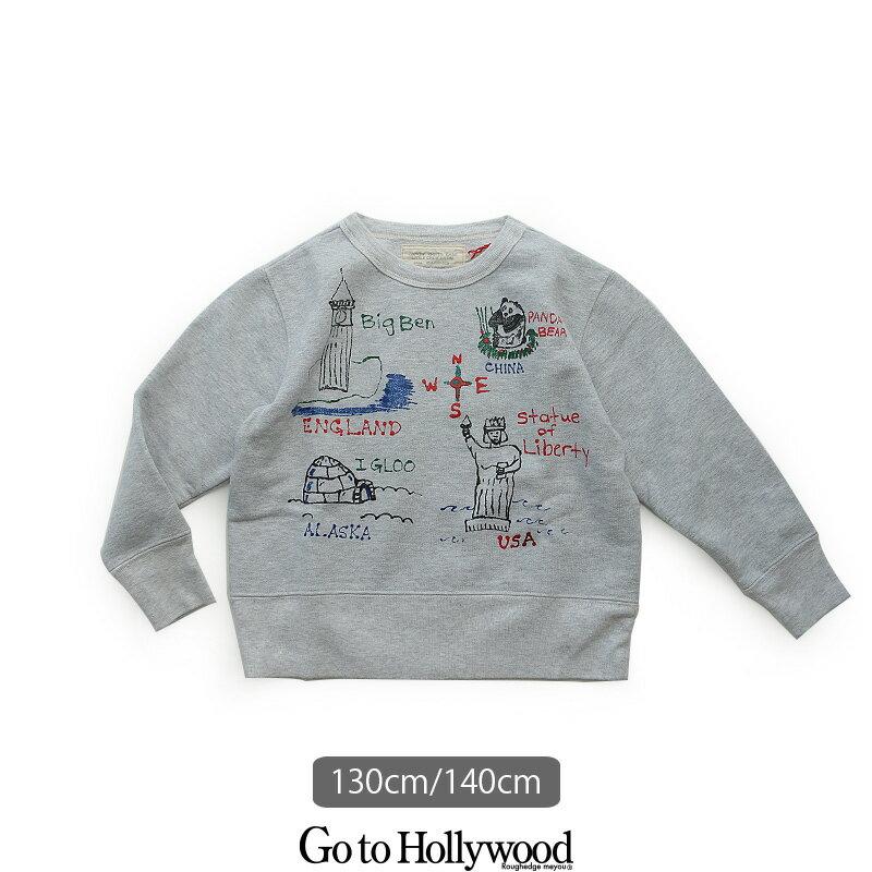 d【SALE対象外】【2018AW】【kids】Go to Hollywood ゴートゥーハリウッド 裏毛ラクガキ変形スウェット 1288401【130cm/140cm】【RCP】