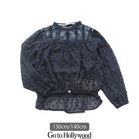 【2019AW】【kids】【130cm/140cm】Go to Hollywood ゴートゥーハリウッド カットボイルヴィンテージブラウス 1298102【RCP】
