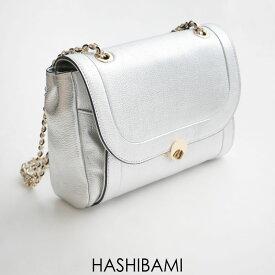 HASHIBAMI ハシバミ ラウンドフォルムメタリックチェーンバッグ Ha-1812-960【RCP】