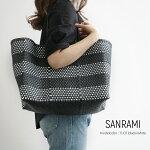 【2019SS】SANRAMIサンラミボーダー柄メルカドバッグS-383017【RCP】