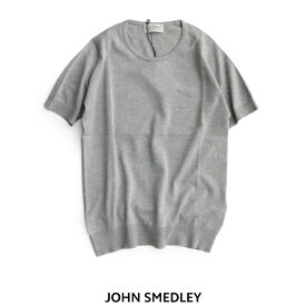 【50%★OFF】 JOHN SMEDLEY ジョンスメドレー コットンニット半袖プルオーバー S3789【RCP】