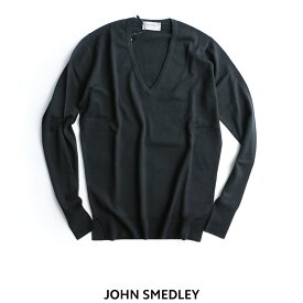 【30%★OFF】JOHN SMEDLEY ジョンスメドレー メリノウール深Vネックニット PEPIN【RCP】