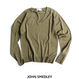 【30%★OFF】JOHN SMEDLEY ジョンスメドレー メリノウールVネックニット MANAROLA【RCP】