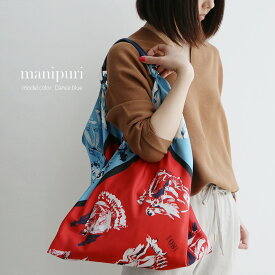 【送料無料】manipuri マニプリ スカーフバッグ(M) S.Flower/Flower/Dance 【RCP】