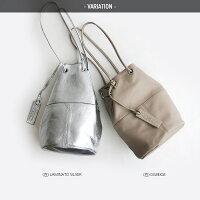 【2020SS】MARCOMASIマルコマージ巾着ショルダーバッグ(SILVER)3013【RCP】