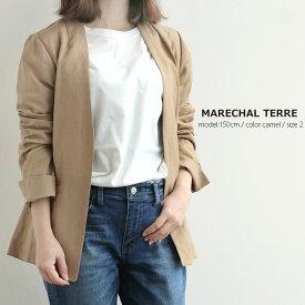 【2020SS】MARECHAL TERRE マルシャルテル ノーカラージャケット ZMT202JK539【RCP】