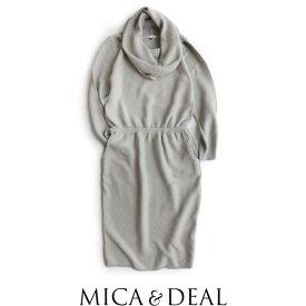 【50%★OFF】MICA&DEAL マイカアンドディール 2wayオフタートルニットワンピース M17A003【RCP】