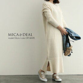 【40%★OFF】MICA&DEAL マイカアンドディール リブニットワンピース M19A041【RCP】MSS