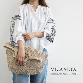 【70%★OFF】MICA&DEAL マイカアンドディール 刺繍ボリュームブラウス M18B079【RCP】MSS