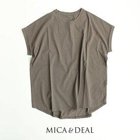 【2021SS】MICA&DEAL【カラー別注】マイカアンドディール ヘムラウンドTシャツ M00E014CU【RCP】