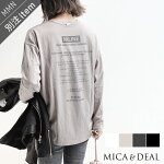 MICA&DEAL×MMN【別注アイテム】マイカアンドディールバックプリントプルオーバー012140922701【RCP】2021AW